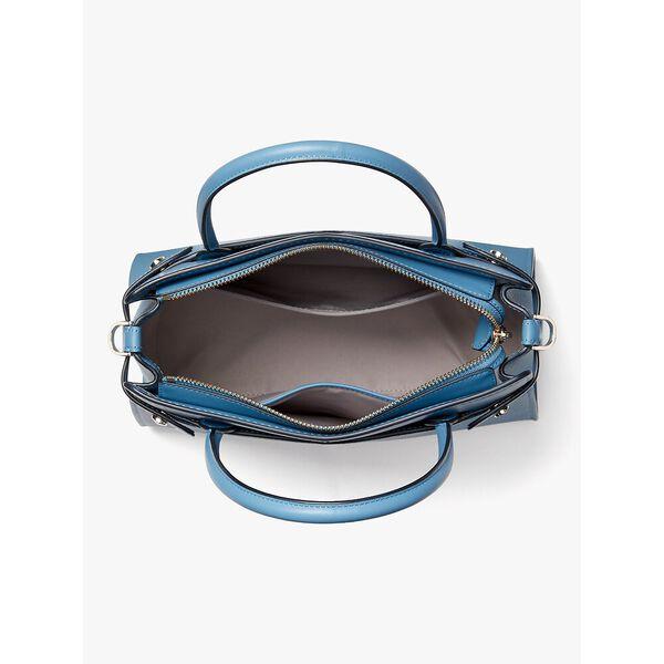 classic medium satchel, blue, hi-res