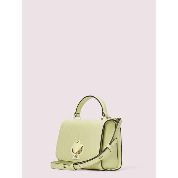 nicola twistlock small top-handle bag, lemon sorbet, hi-res