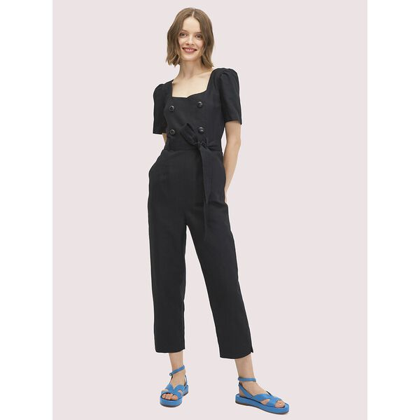 twill jumpsuit, BLACK, hi-res