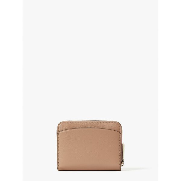 spencer small compact wallet, raw pecan, hi-res