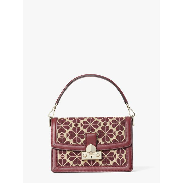 harmony spade flower jacquard small shoulder bag