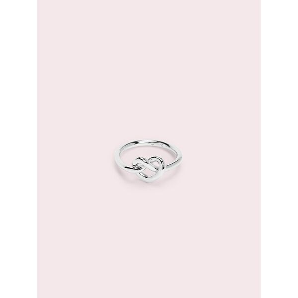 loves me knot loves me knot ring, silver, hi-res