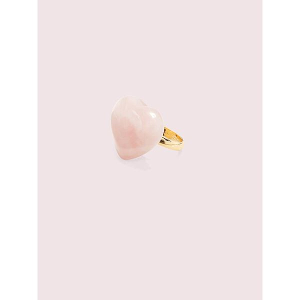 open heart stone cocktail ring, pink multi, hi-res