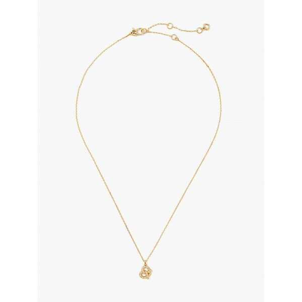 dashing beauty pretzel pendant, clear/gold, hi-res