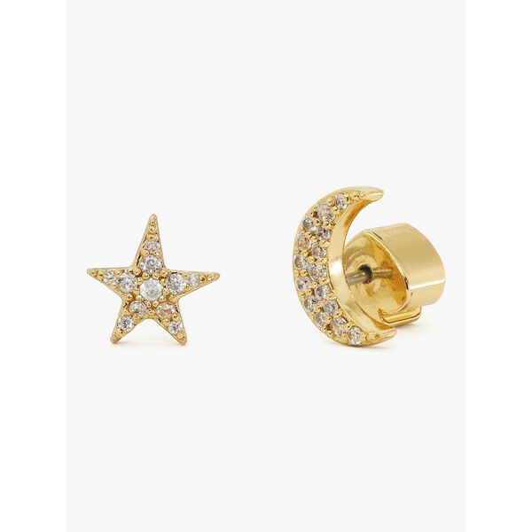 something sparkly pavé star & moon studs