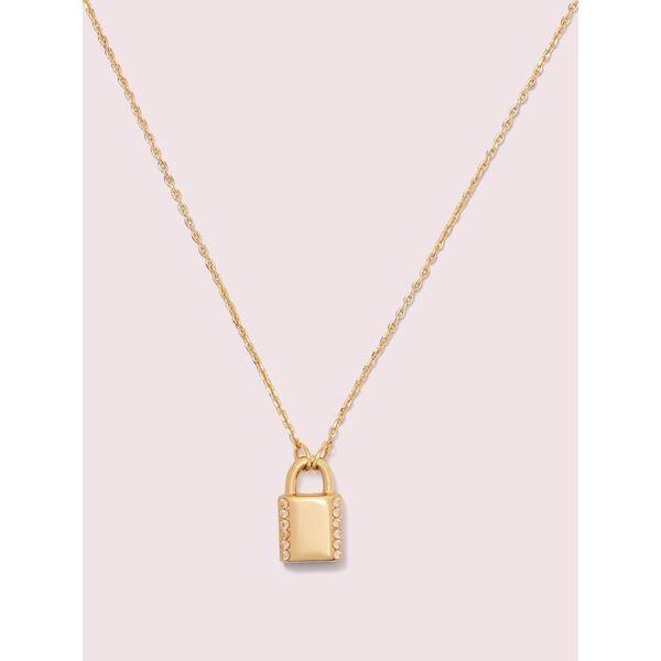lock and spade pavé lock mini pendant