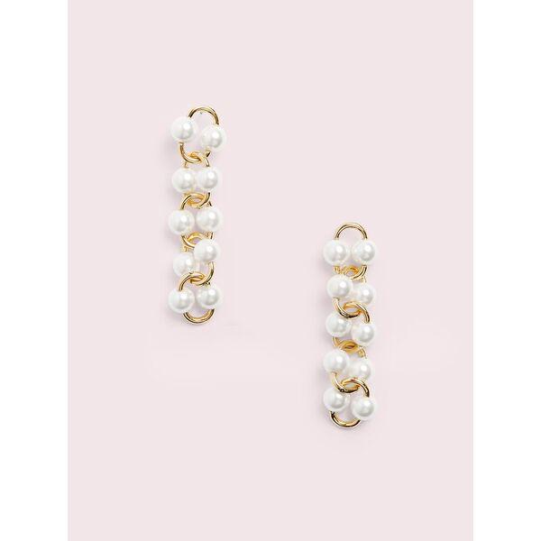 nouveau pearls linear earrings