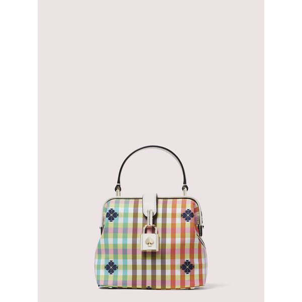 remedy bella plaid small top-handle bag