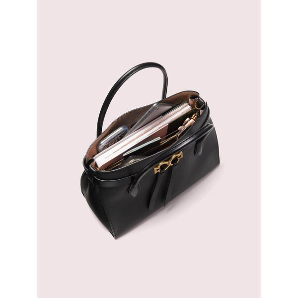 toujour medium satchel, deep evergreen, hi-res