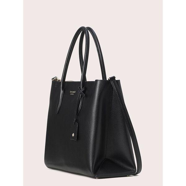 eva medium top zip satchel, black, hi-res