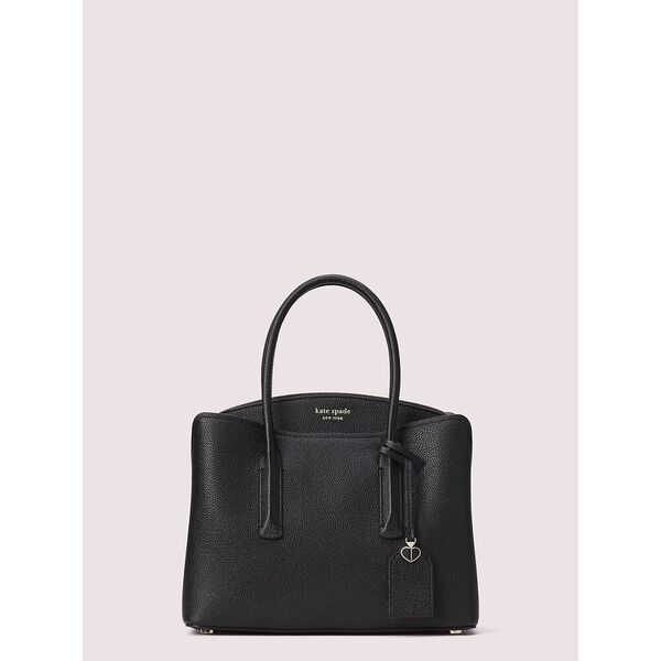 margaux medium satchel, black, hi-res