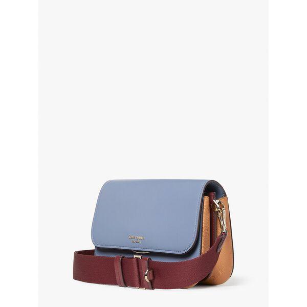 buddie colorblocked medium shoulder bag, bass blue multi, hi-res