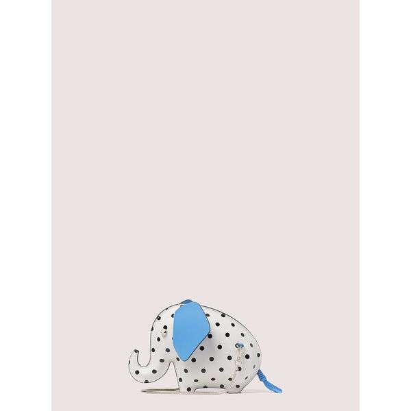 tiny cabana dot elephant crossbody, parchment, hi-res
