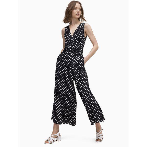 lia dot jumpsuit, BLK/FRCREA, hi-res