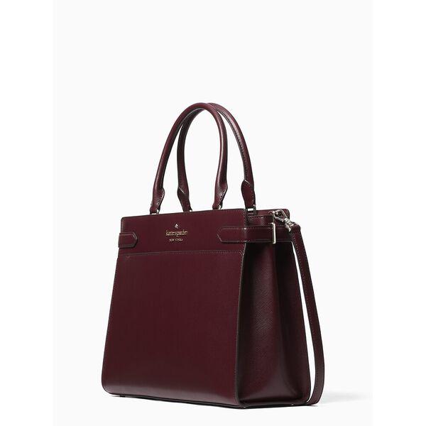 staci large satchel, cherry wood, hi-res