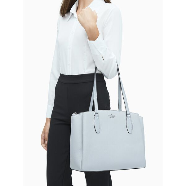 monet large triple compartment tote, nimbus grey, hi-res