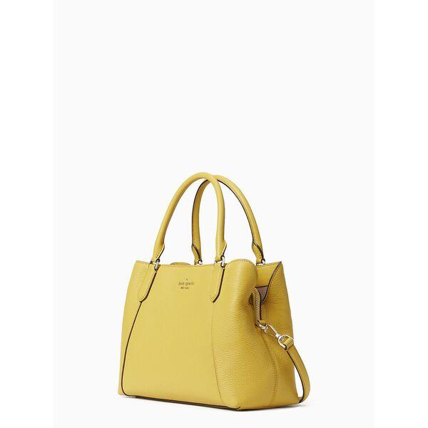 jackson medium satchel, golden yarrow, hi-res