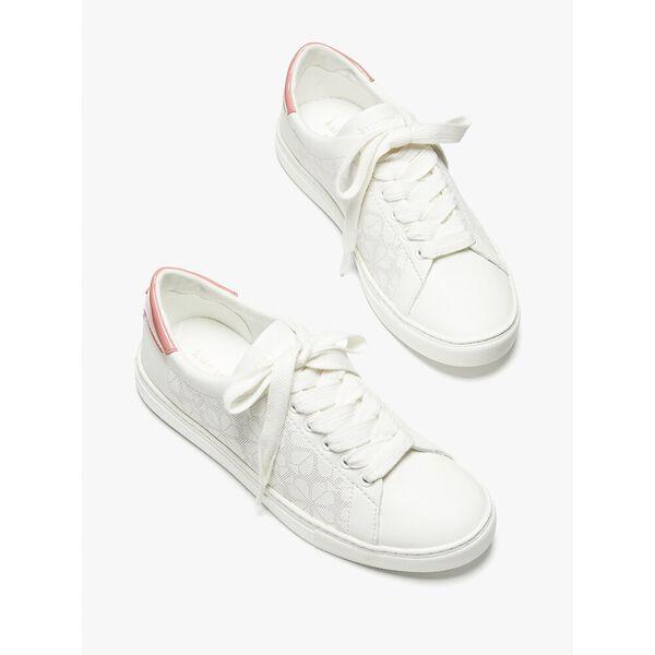 audrey sneaker, optic white/ peach, hi-res