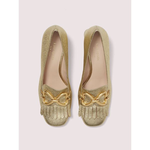 yarrow fringe pumps, gold, hi-res