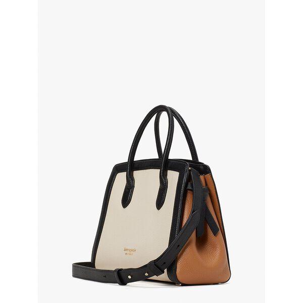 knott colorblocked medium satchel, milk glass multi, hi-res