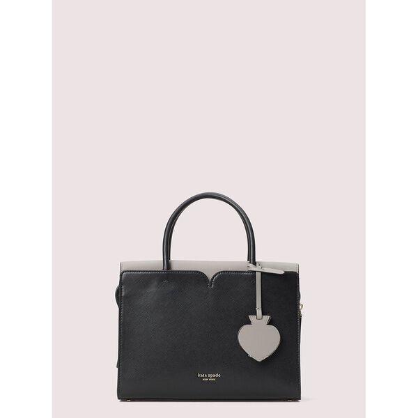 spencer medium satchel, black, hi-res
