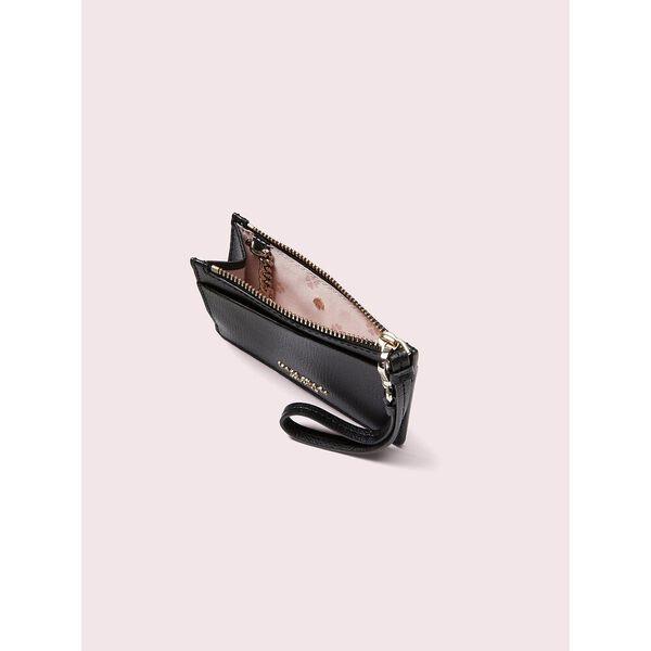 sylvia cardholder wristlet, black, hi-res