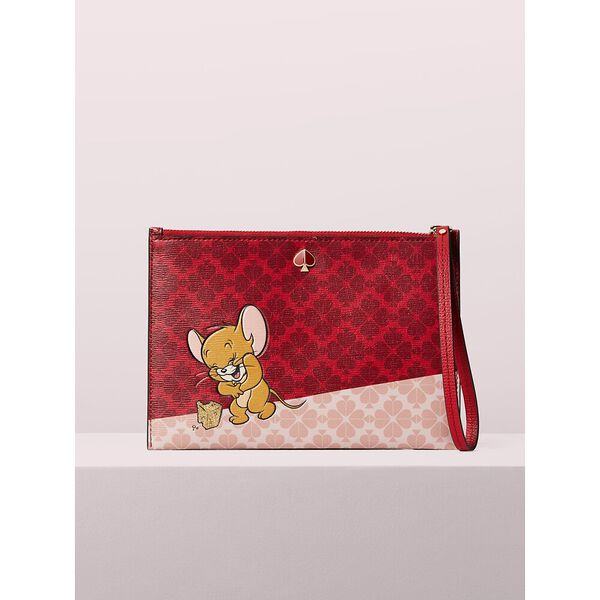 kate spade new york x tom & jerry small wristlet, multi, hi-res