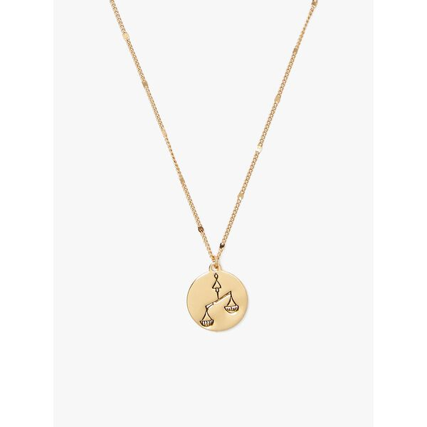 in the stars libra pendant, gold, hi-res
