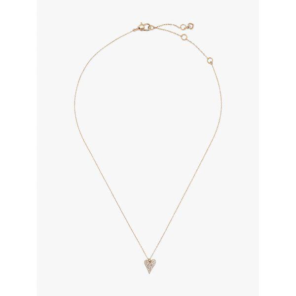 sweetheart mini pendant, clear/rose gold, hi-res
