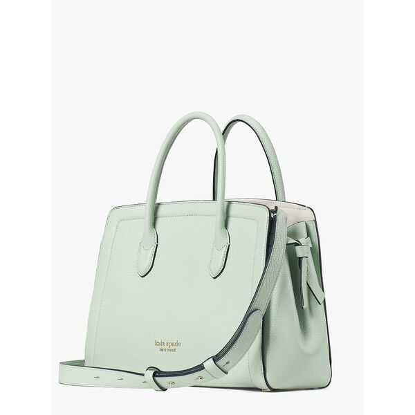 knott medium satchel, crystal blue, hi-res