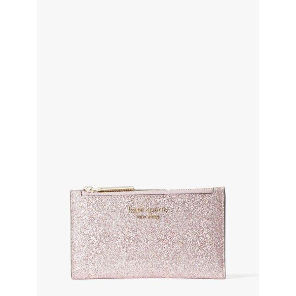 spencer glitter small slim bifold wallet