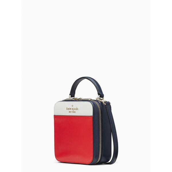 daisy colorblock vanity crossbody, red multi, hi-res