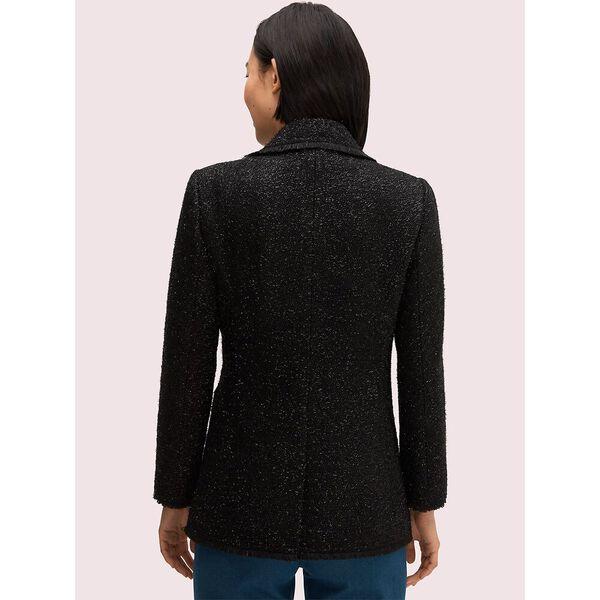 tinsel tweed blazer, black, hi-res