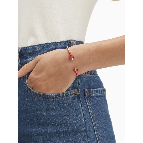 love lobster hinged cuff, red multi, hi-res