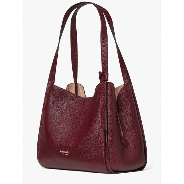knott large shoulder bag, grenache, hi-res