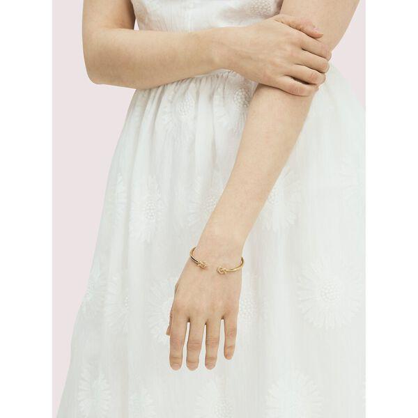 loves me knot pavé flex cuff, clear/gold, hi-res