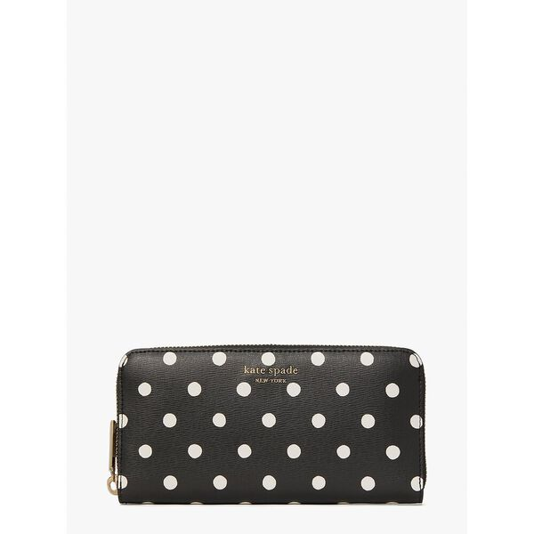 spencer sunshine dot zip-around continental wallet, black multi, hi-res