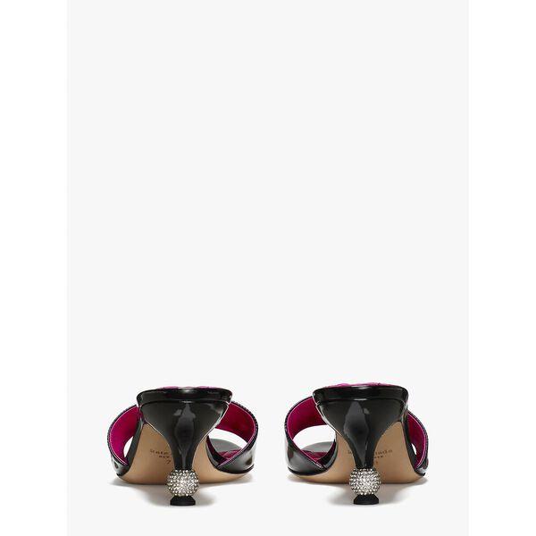 dorset slide sandals, black, hi-res