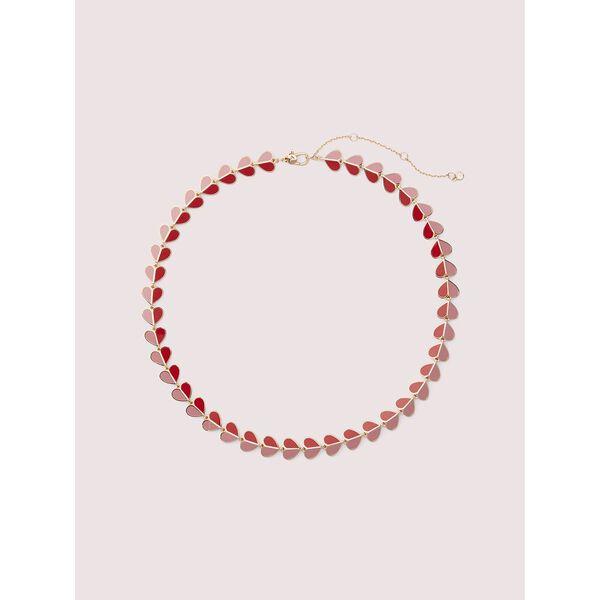 heritage spade enamel heart necklace