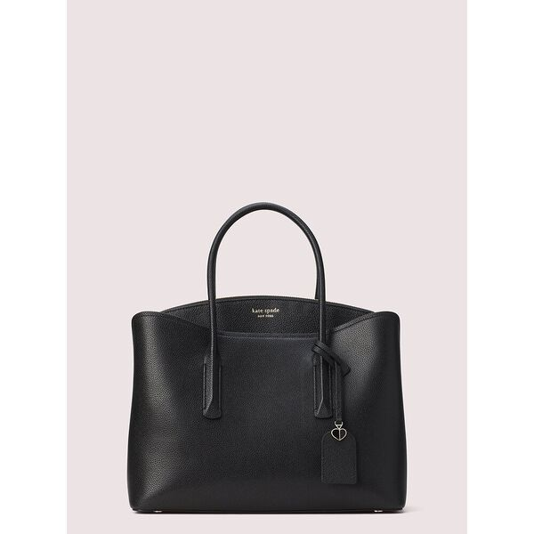 margaux large satchel, black, hi-res