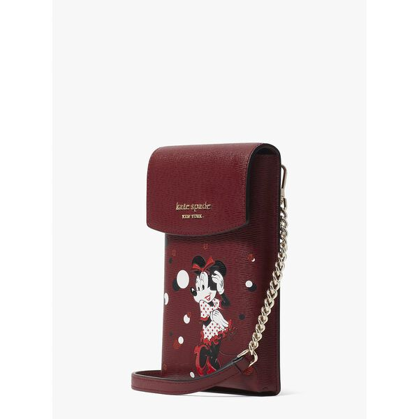 disney x kate spade new york minnie mouse north south crossbody, red multi, hi-res