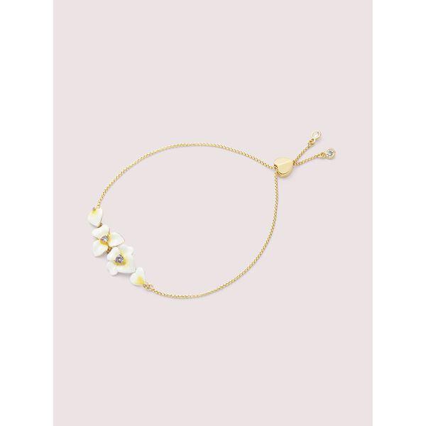 precious pansy slider bracelet