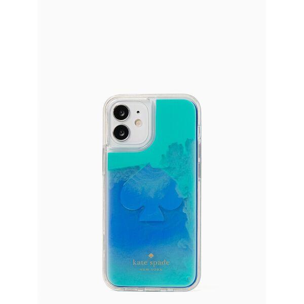 liquid sand iphone 12 mini case, poolside, hi-res