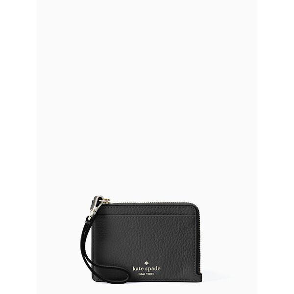 jackson small card holder wristlet, black, hi-res