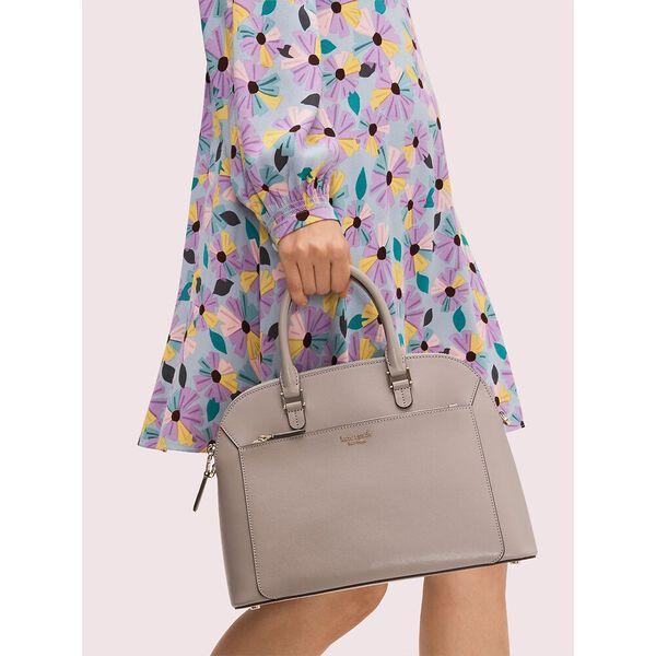 louise medium dome satchel, true taupe, hi-res