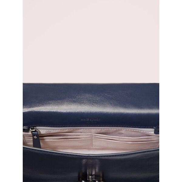 amelia twistlock medium convertible chain shoulder bag, blazer blue, hi-res