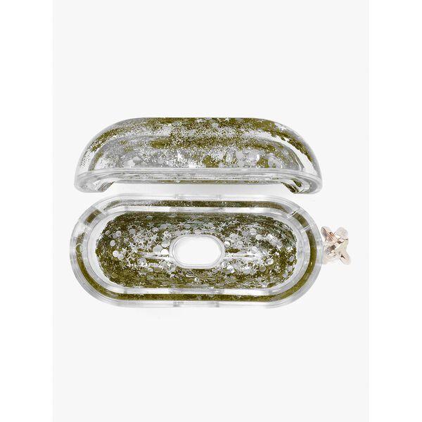 glitter airpods pro case, gold multi, hi-res