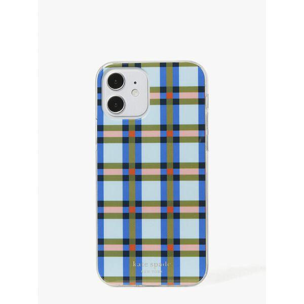 plaid iphone 12/12 pro case, multi, hi-res
