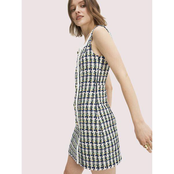 pop tweed dress, juniper, hi-res