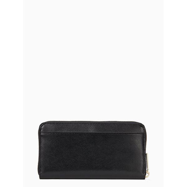 staci large continental wallet, black, hi-res